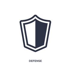 Defense icon on white background simple element vector