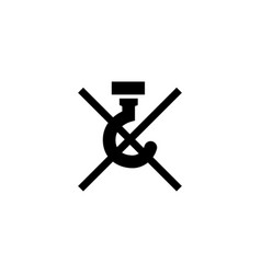 do not use hooks - packaging flat icon vector image