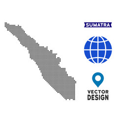 Dot sumatra island map vector