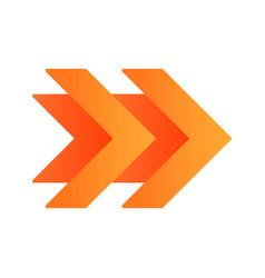 Double orange arrows flat design long shadow vector