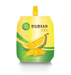 Durian juice package on a white background vector