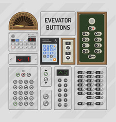 elevator buttons lift metal push button on vector image