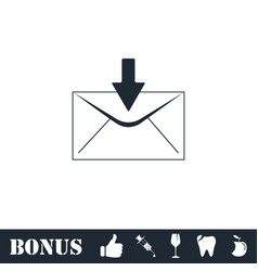 email icon flat vector image