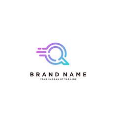 Fast letter q logo design vector