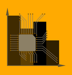 Flat icon on stylish background nanotechnology vector