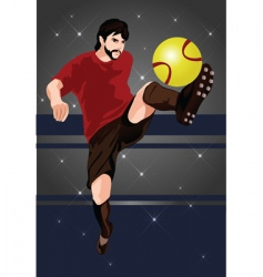 football star vector image