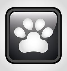 Footprint icon vector