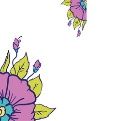 form with flower vector image