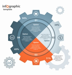 Gear circle infographic template vector