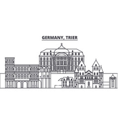 Germany trier line skyline vector