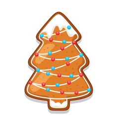 gingerbread cookies tree of merry vector image