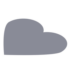 grey heart icon isometric style vector image