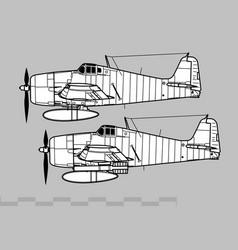 grumman f6f hellcat vector image
