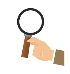 hand holding magnifying glass icon vector image