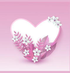 heart shape with white vector image