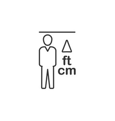 height man line icon simple modern flat for vector image