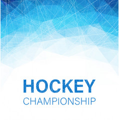 Hockey championship blue abstract poster with vector
