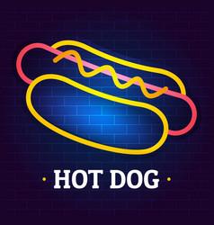 Hot dog logo flat style vector