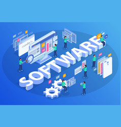 Isometric software development composition vector