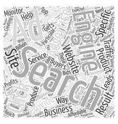 Jp ppc search engine advertising word cloud vector