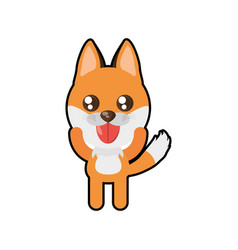 Kawaii fox animal toy vector