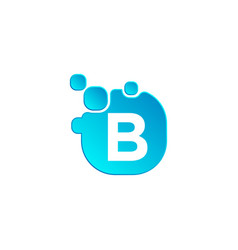 letter b bubble logo template or icon vector image