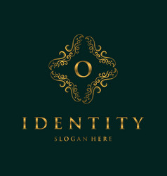 Letter o frame luxury creative business logo vector