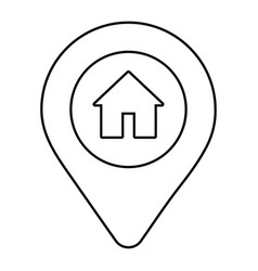 Location point icon vector