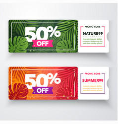 nature gift voucher template set for spa vector image