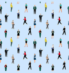 office people pattern vector image