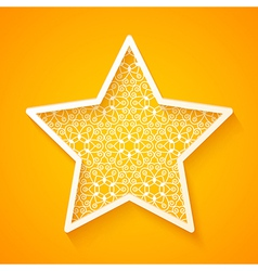 Openwork Star on Colorful Background vector image