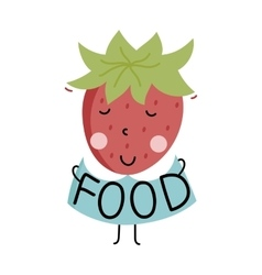 Organic food label Logo for vegan menu or food vector image