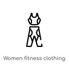 outline women fitness clothing icon isolated vector image