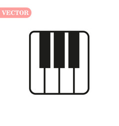 Piano keys isolated on white background vector