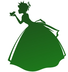 Princess and frog vector