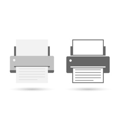 Printer icon flat vector image