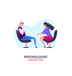 Psychologist and psychotherapist icon vector