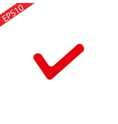 red tick mark for correct approved for your vector image