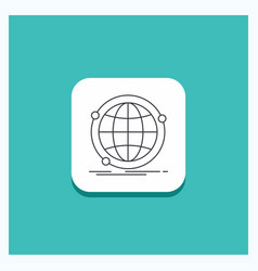 round button for data global internet network web vector image