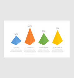 set blue orange yellow and green elements vector image