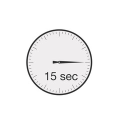 Simple 15 seconds or 15 minutes timer stock vector