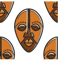 South africa totem mask seamless pattern african vector
