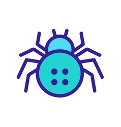 Spider icon isolated contour symbol vector