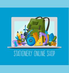 stationery online shop banner vecror vector image