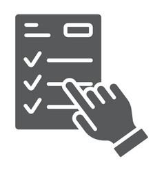 Study program glyph icon e learning vector