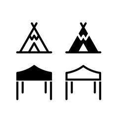 Tent icon design isolated on white background vector