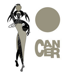 tribal zodiac cancer elegant woman with an vector image