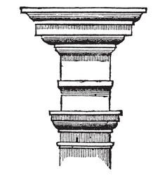 Tuscan order century vintage engraving vector