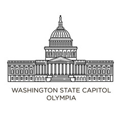 Washington state capitol in olympia united states vector