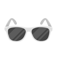 Yellow trendy sunglasses icon in monochrome style vector